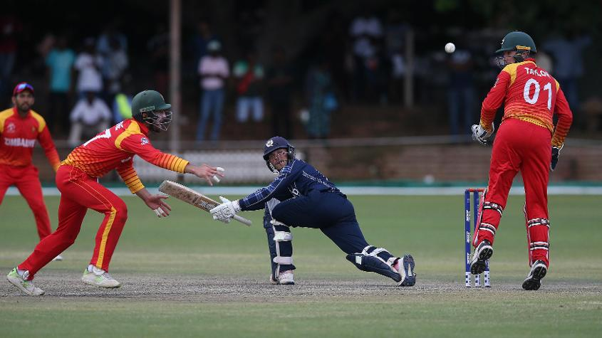 The legaue game between Zimbabwe and Scotland ended up in a tie