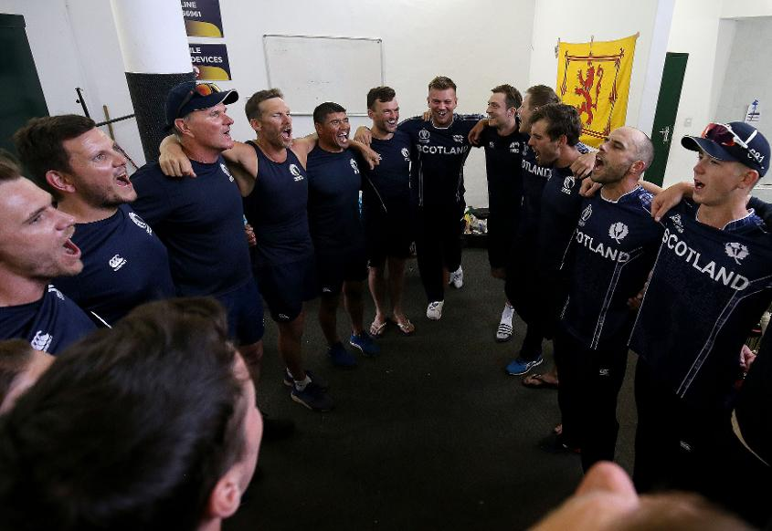 Scotland sing in victory