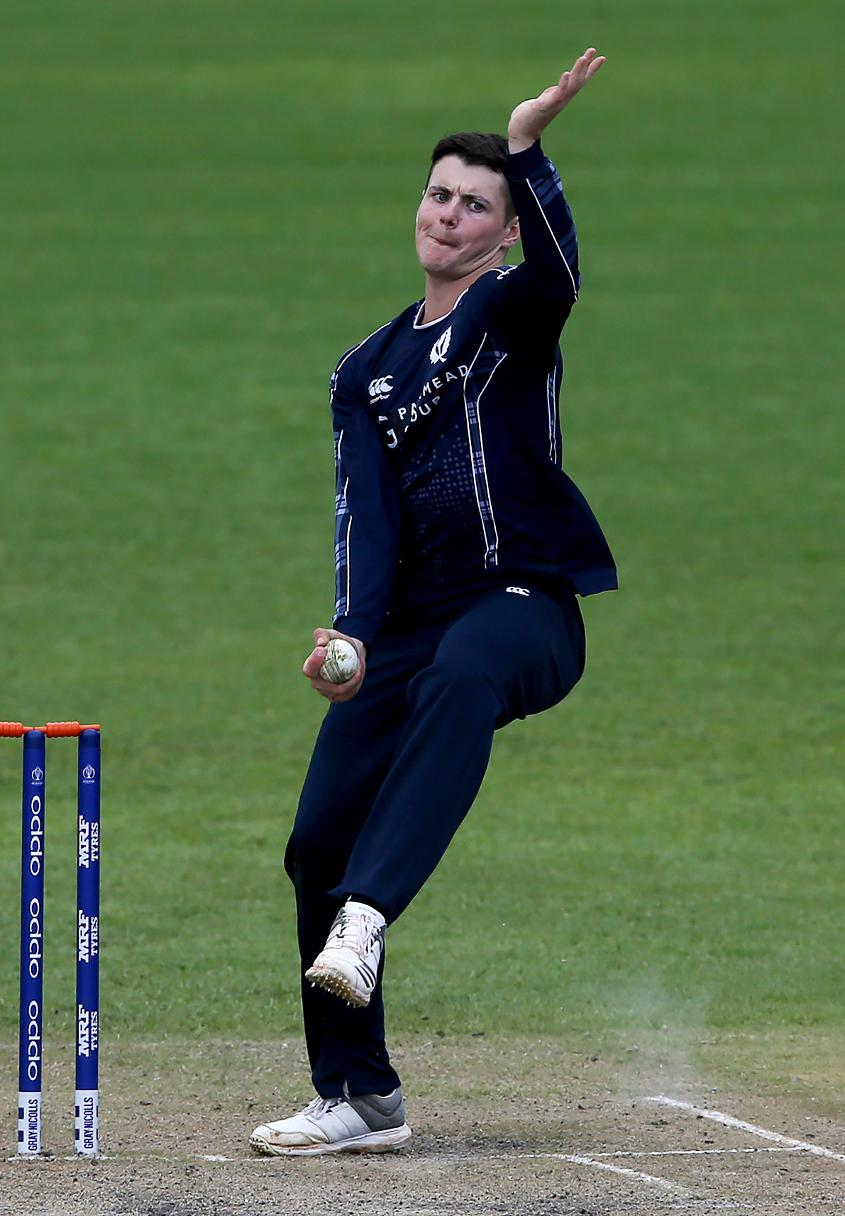Off-spinning all-rounder Tom Sole enters his delivery stride