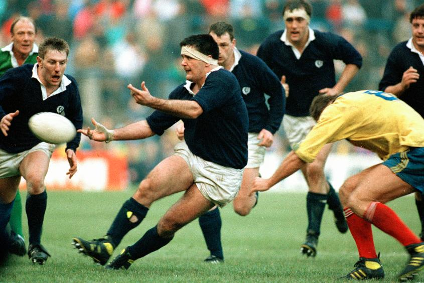David Sole in action for Scotland