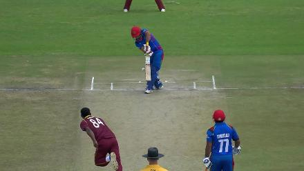 Keemo Paul claims his first ODI wicket, Javed Ahmadi trapped lbw