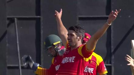Zimbabwe's winning moment against Ireland in the CWCQ Super Six!