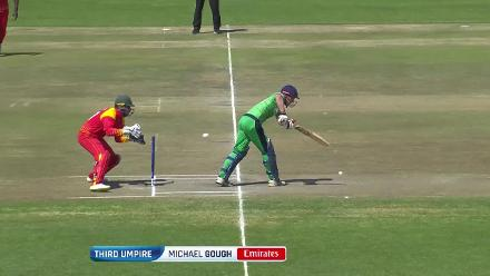 Joyce stumped for a second ball duck against Zimbabwe!