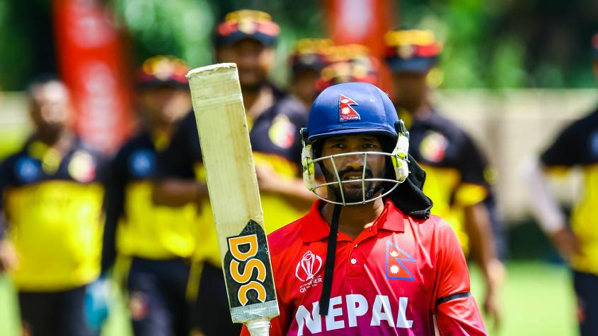 Dipendra Singh Airee scored a half-century and picked up 4/14 to help Nepal beat PNG