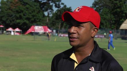 PNG's Charles Amini talks ahead of the 9th/10th place play-off against Hong Kong