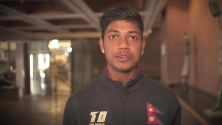 Thanks from Sandeep Lamichhane (in Nepalese)