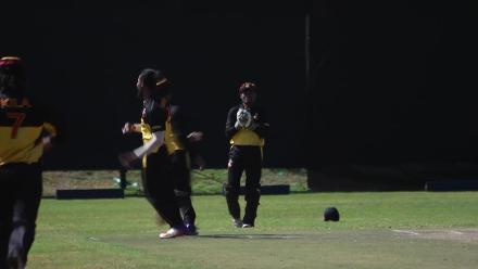 Tanwir Afzal caught behind off Norman Vanua
