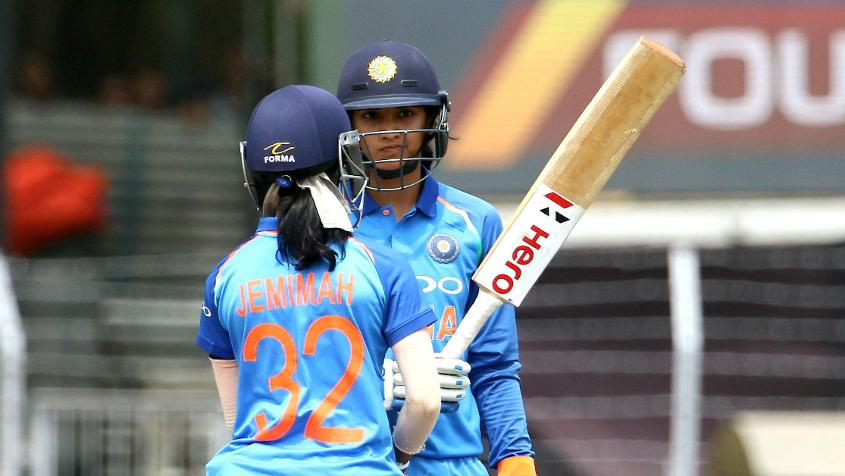 Jemimah Rodrigues and Smriti Mandhana put on 101 for the opening wicket