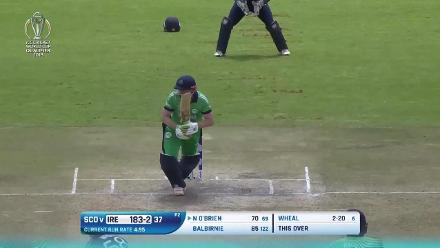 Ireland post 271/9 v Scotland at CWCQ