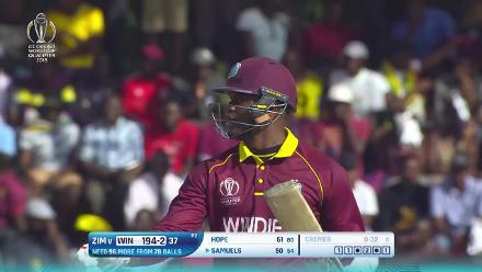 West Indies v Zimbabwe Player of the Match: Marlon Samuels