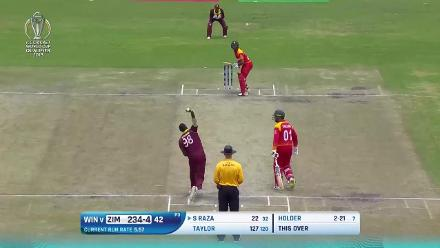 Zimbabwe post 289 against West Indies at CWCQ