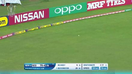 Scotland innings highlights against West Indies at CWCQ