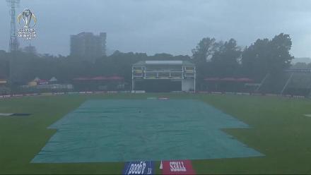 The rain falls at Harare Sports Club