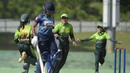Bismah Maroof, the Pakistan captain, led the bowling attack finishing with figures of 3/17 in 5.2 overs