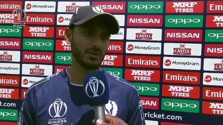 Safyaan Sharif speaks after helping limit the Windies to 198