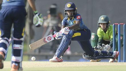 Sri Lanka were unable to keep up with the scoring rate and lost wickets at regular intervals