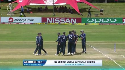 HIGHLIGHTS: West Indies beat Scotland by five runs (DLS) to reach CWC19