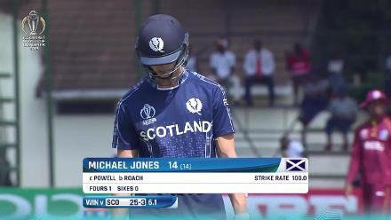 See the Scottish wickets fall during their chase