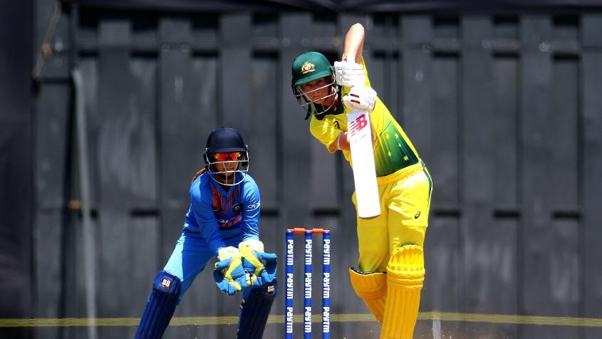 Meg Lanning's unbeaten 35 took Australia to victory