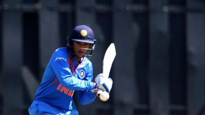 Smriti Mandhana top scored for India with her knock of 67