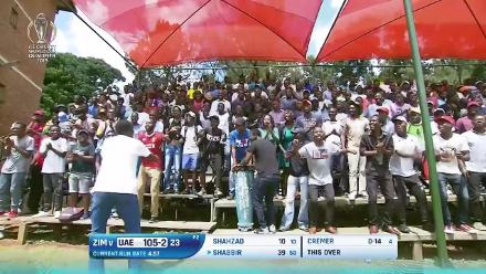 A passionate home crowd at Harare Sports Club