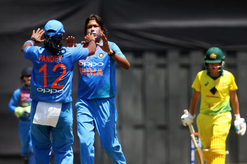 Jhulan Goswami picked 3/30 in her first match after returning from injury