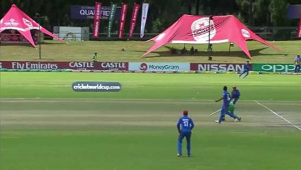 Niall O'Brien goes for 36, finding Shenwari off Dawlat Zadran