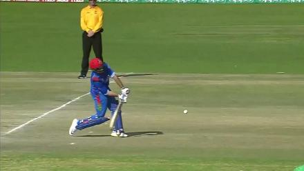 Nabi departs for 11, caught by McBrine off Singh