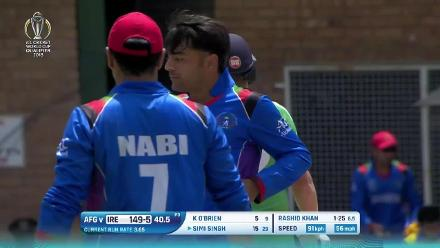 Rashid Khan's 3/40 against Ireland at CWCQ