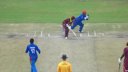 Hetmyer caught behind off Ashraf for 38