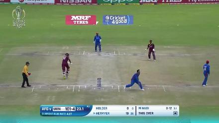 West Indies post 204 against Afghanistan in the CWCQ final