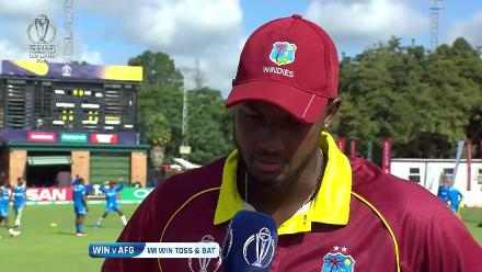West Indies win the toss and bat in the CWCQ Final against Afghanistan