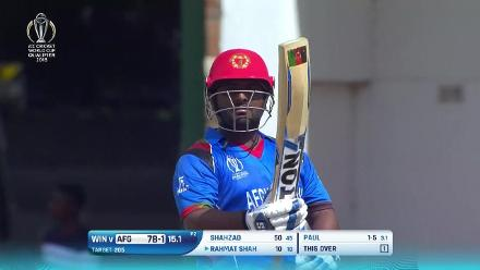 Mohammad Shahzad's 84 against West Indies in the CWCQ final