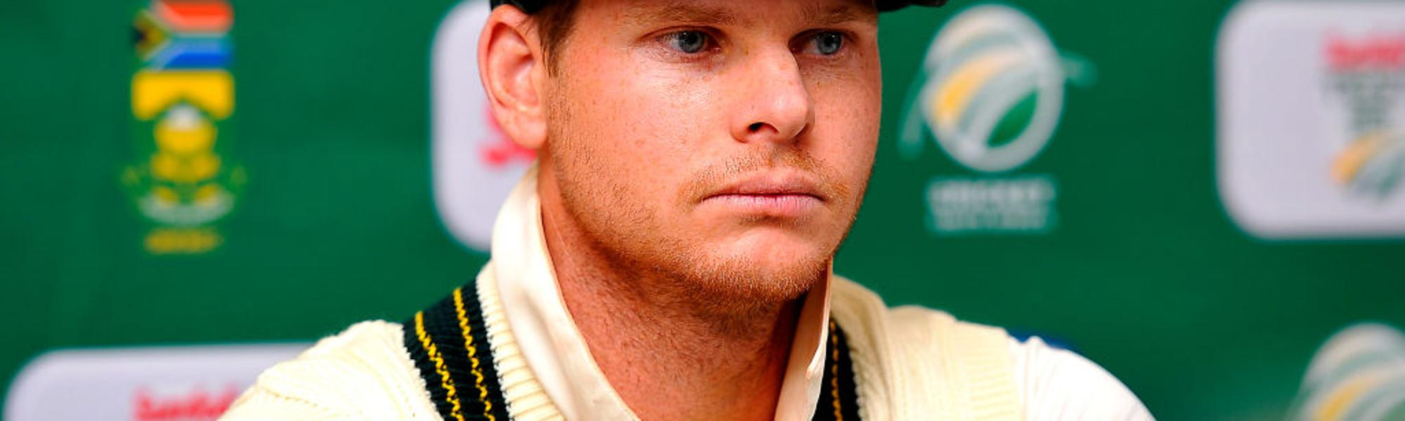Steven Smith fields questions after day 3 of the third Test match between South Africa and Australia at Newlands.