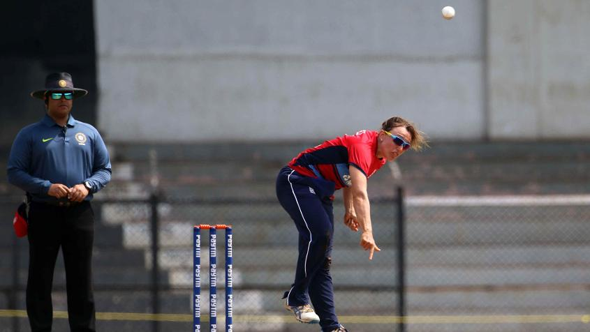 Danielle Hazell led England in the final in place of the injured Heather Knight