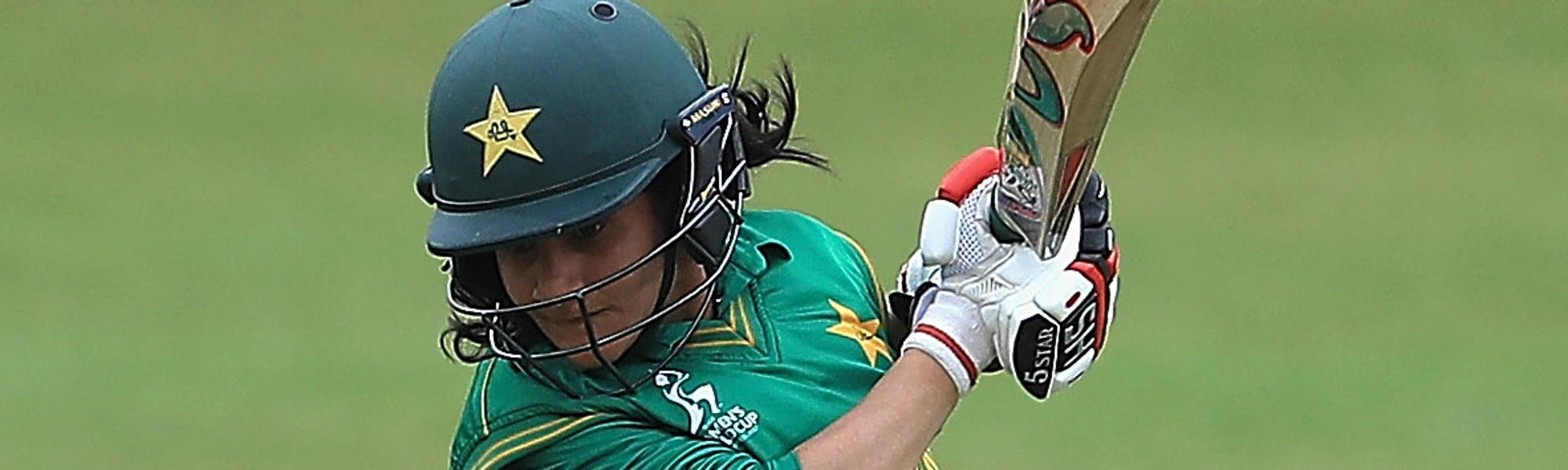 Javeria Khan top scored for Pakistan with a run-a-ball 38