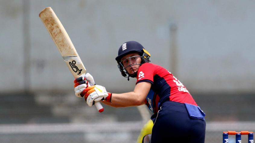 Natalie Sciver top scored for England with a 42--ball 50