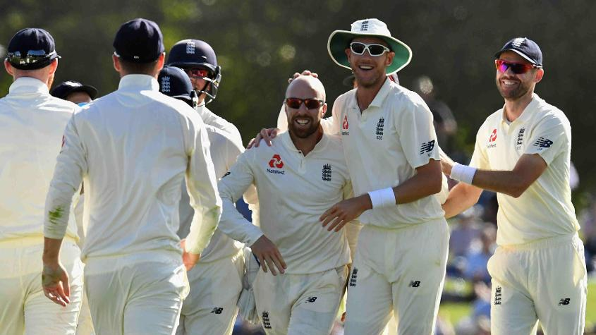 Jack Leach picked up the crucial wickets of Ross Taylor and Tom Latham