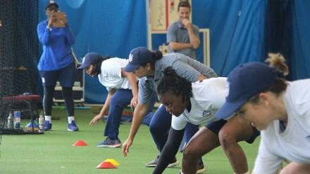 USA Women practice in the nets at the Sydney Cricket Ground in Australia