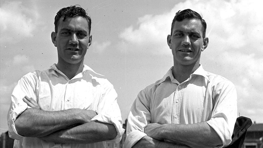 Eric (L) and Alec Bedser of England