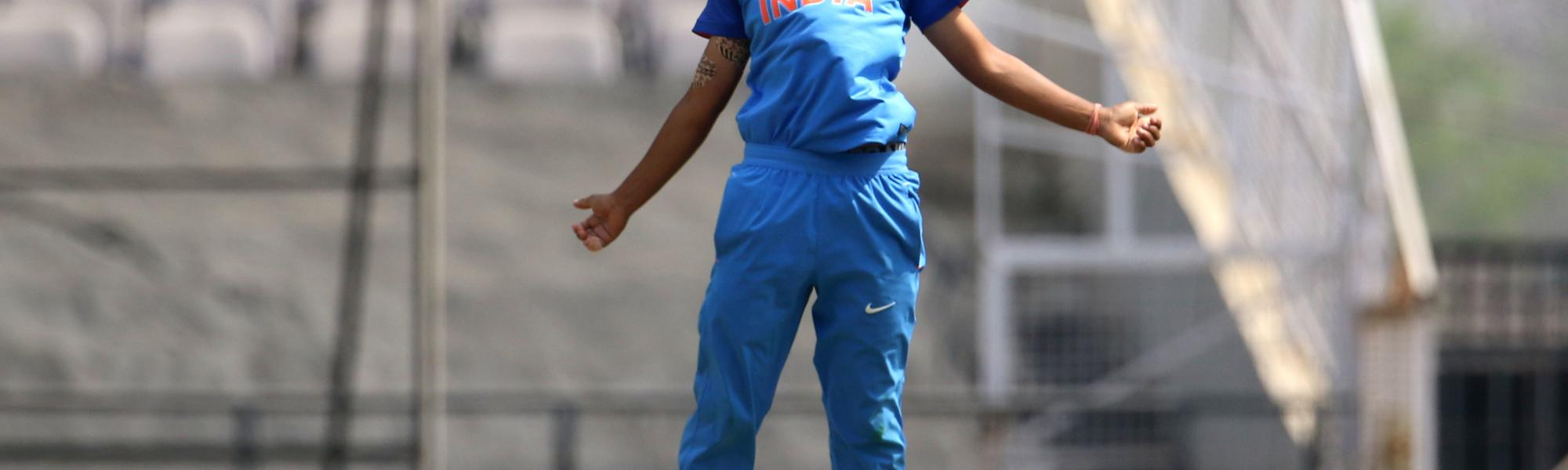 Poonam Yadav was India's star bowler, finishing with figures of 4/30