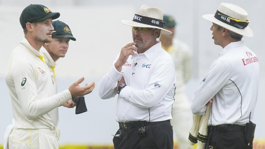 Richard Illingworth (second from right) has been one of the most active umpires in recent years