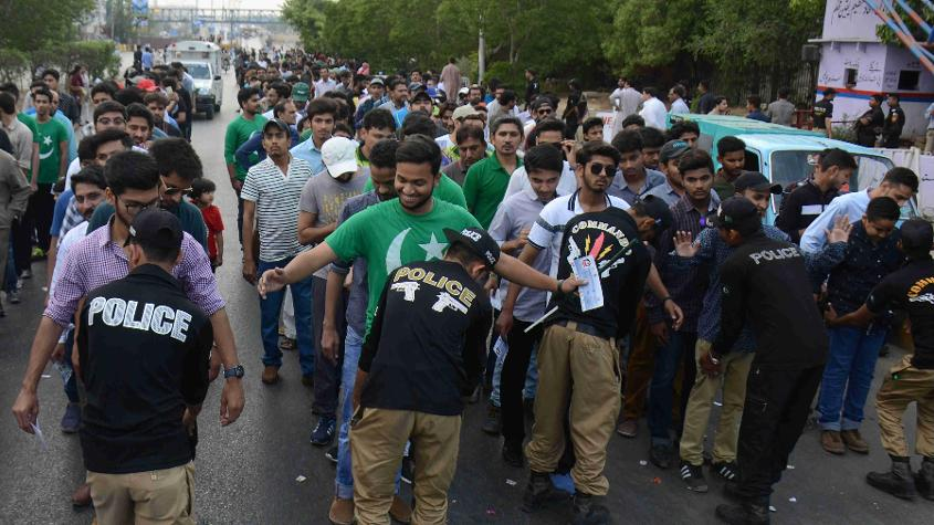 People in Karachi flocked to the National Stadium despite the high-level security