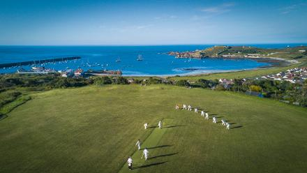 Shortlist - Archie Brooksbank (Bladesman Productions) - MCC Playing Member Archie Brooksbank used a drone camera to capture the action of the MCC out-match against Alderney, whilst also participating for the MCC team, 31May 2017
