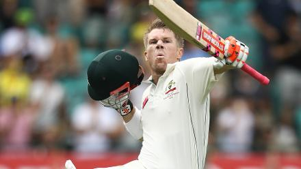 Shortlist - Mark Kolbe (Getty Images) - David Warner of Australia celebrates his century on the first day of the third Test Match between Australia and Pakistan at SCG, 3 January 2017, Sydney, Australia