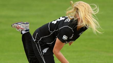 Runner-up - Stu Forster (Getty Images) - Bowler Hannah Rowe of New Zealand, in action during an ICC Women's World Cup match between New Zealand and Pakistan at The Cooper Associates County Ground, Taunton, 8 July 2017, Taunton, UK