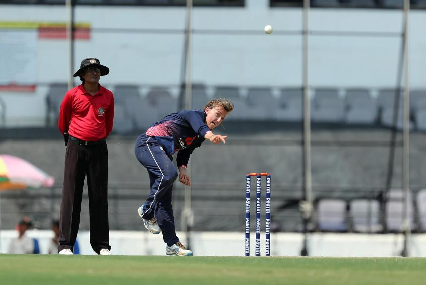 Danielle Hazell was a bowling star for England in the ODIs against India