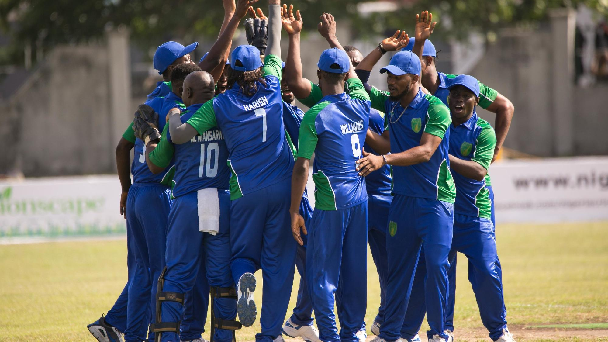 Sierra Leone celebrate a wicket