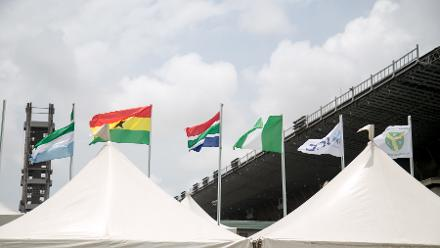 Flags flying in Lagos