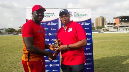 Rexford Bakum of Ghana was named Player of the Match